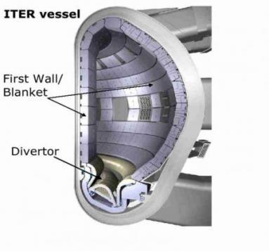 Места применения малоактивируемых феррито-мартенситных сталей в рабочей камере международного термоядерного реактора ИТЕР
